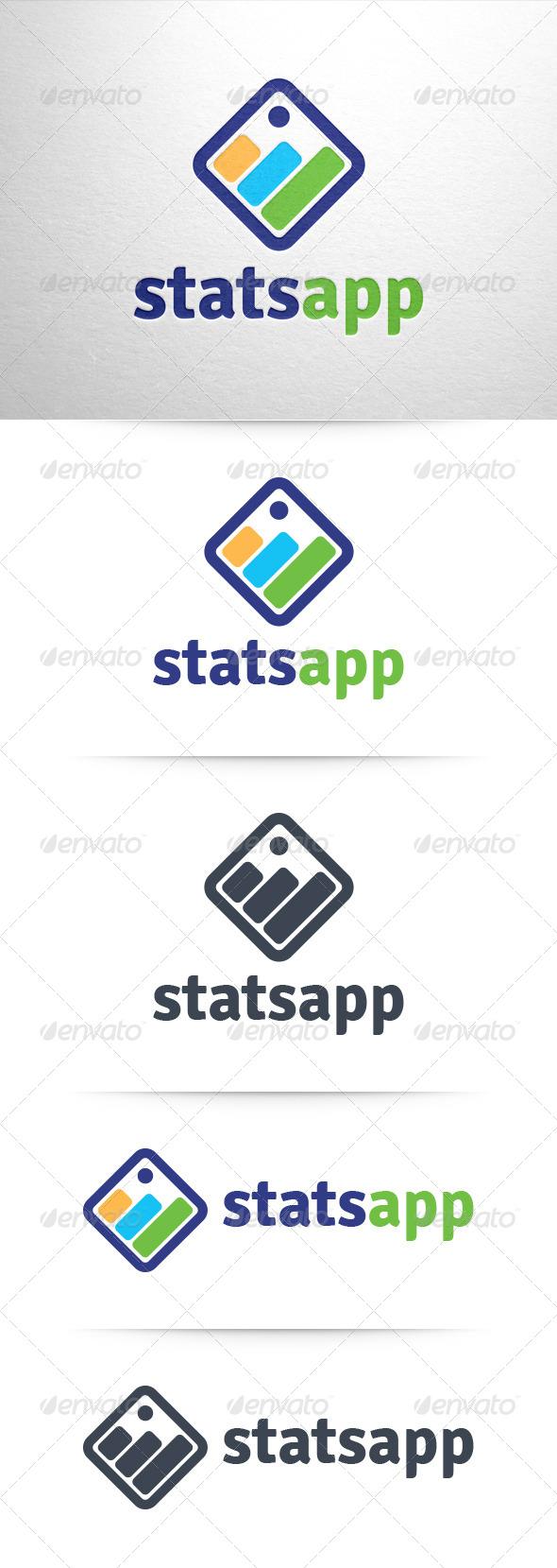 GraphicRiver Stats App Logo 6360411