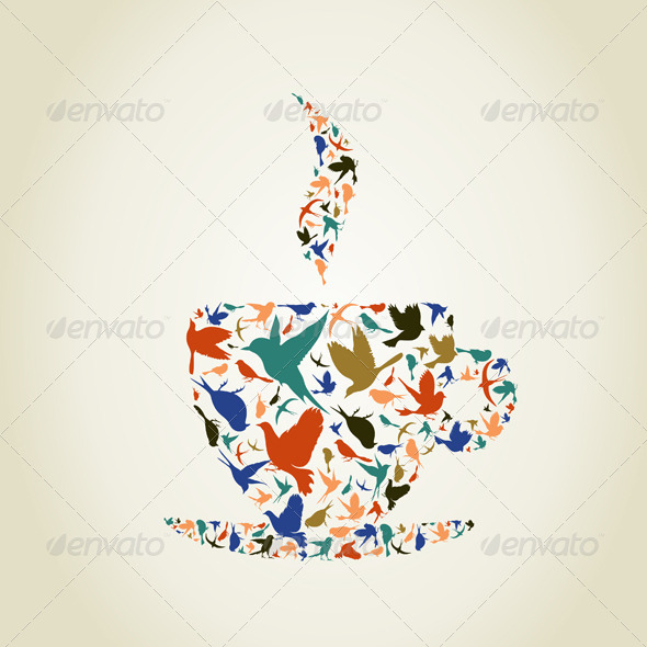 GraphicRiver Cup a Bird 6360429