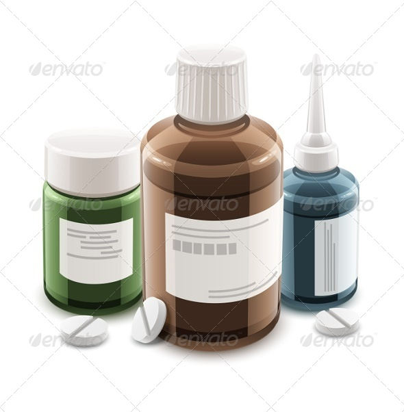 GraphicRiver Bottles with Medical Drugs and Pills 6360519