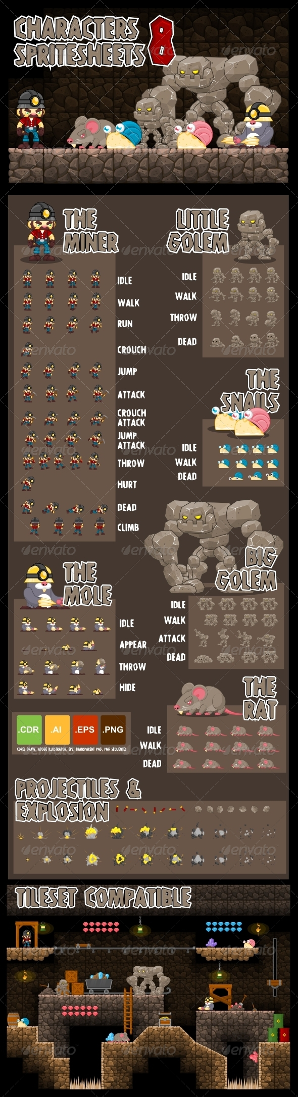 GraphicRiver Characters Spritesheet 8 6360533