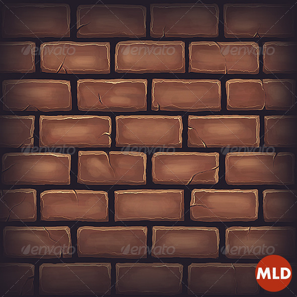 Gray Cartoon Brick Wall Texture : Cartoon image of grey brick wall dondrup