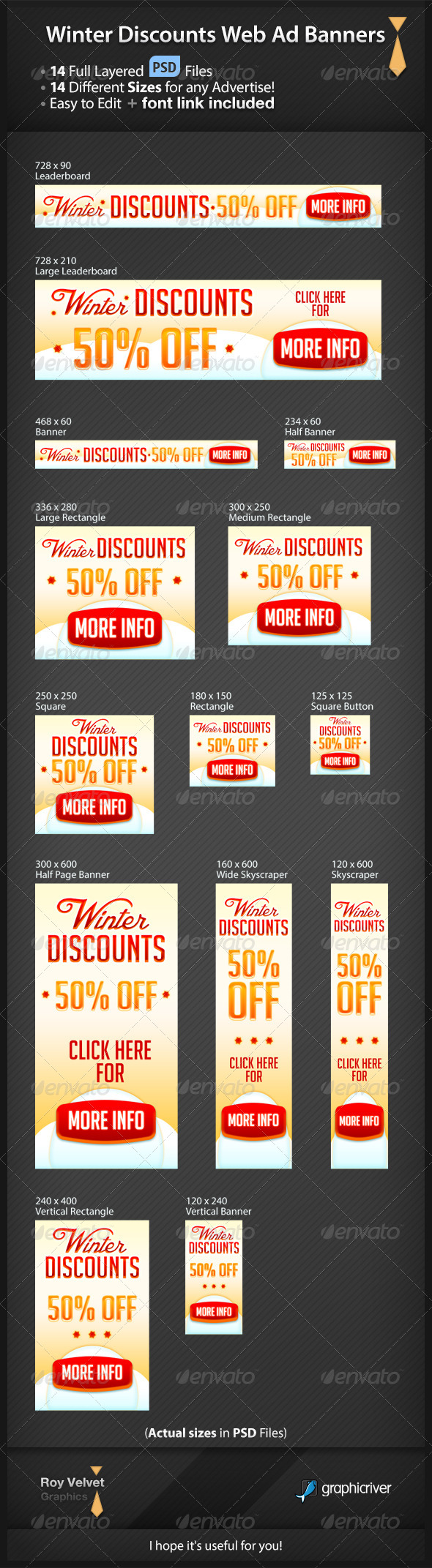 GraphicRiver Winter Discounts Web Ad Banners 6360635