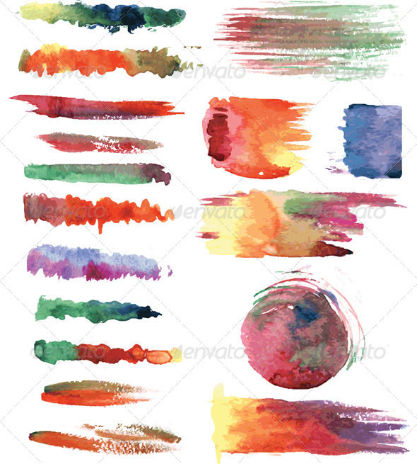 GraphicRiver Set of Vector Watercolor Brushes 6360661