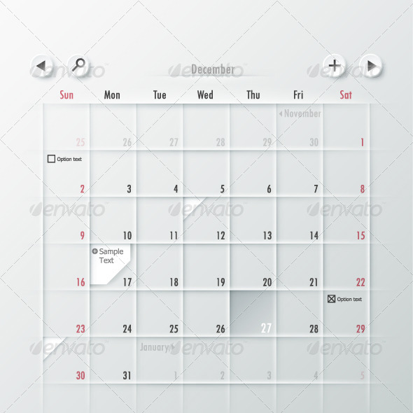 GraphicRiver Paper Calendar Design 6360736