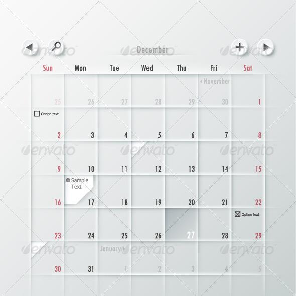 GraphicRiver Paper Calendar Design 6360736