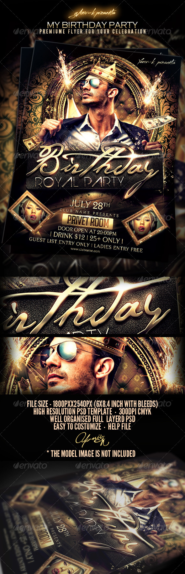 GraphicRiver My Birthday Bachelor Party Invitation 6347325