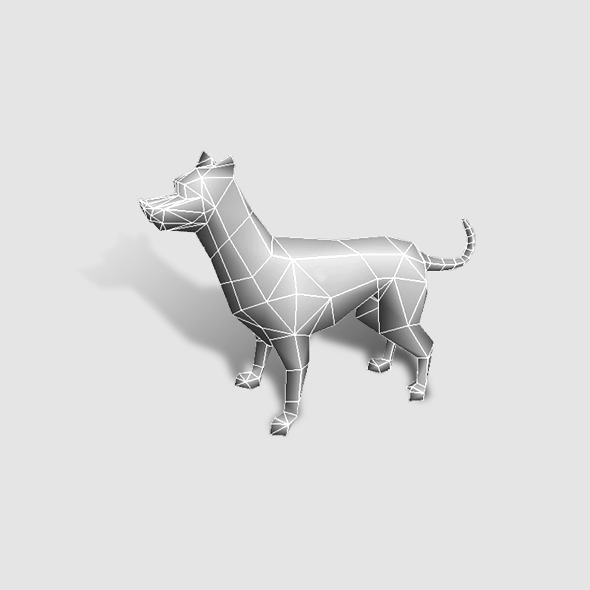 3DOcean Dog Low Poly 6360924