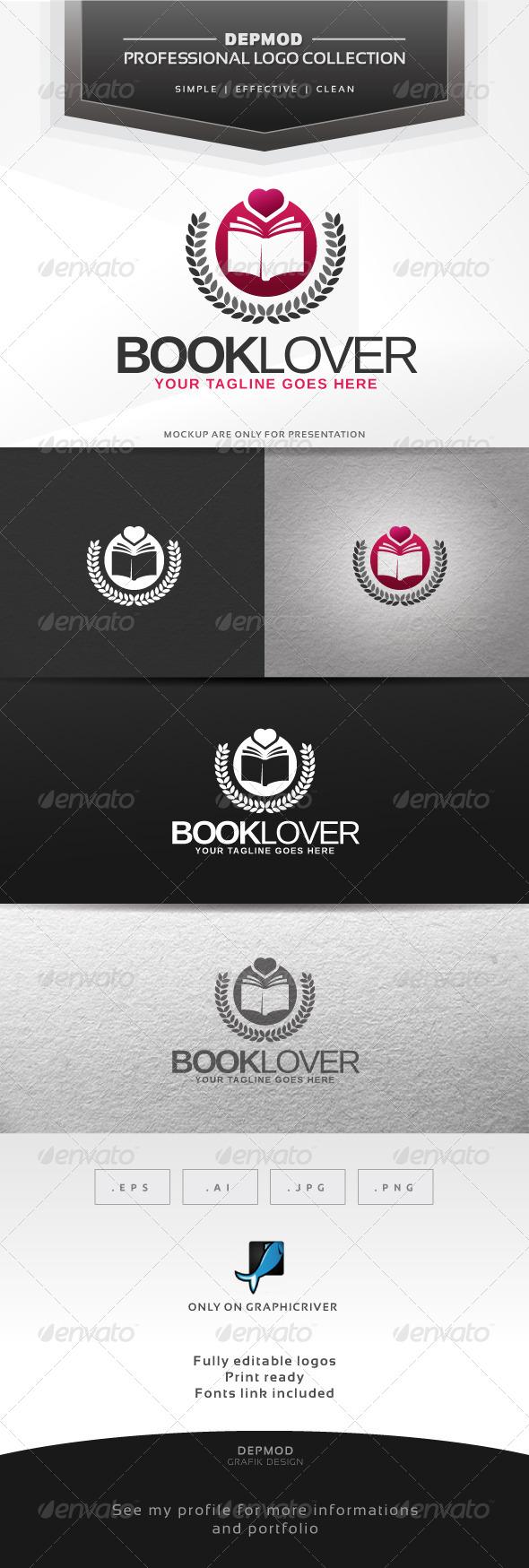GraphicRiver Book Lovers V.02 Logo 6360954