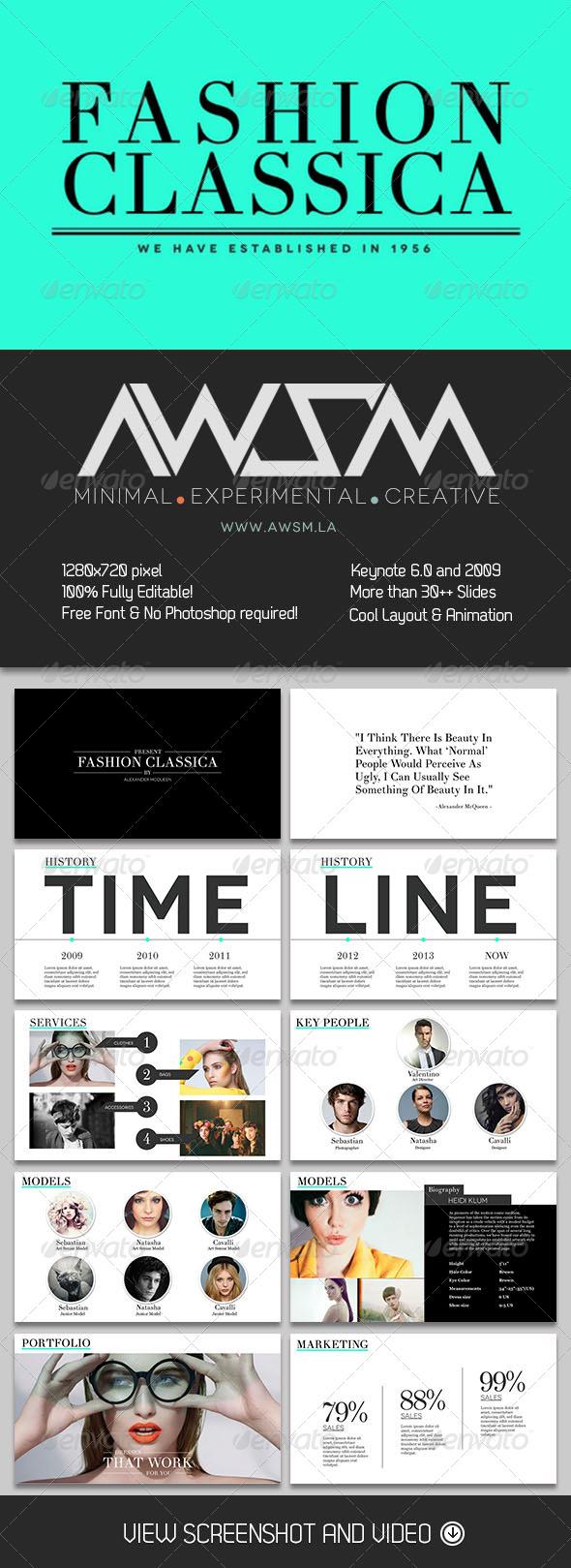 GraphicRiver Fashion Classica Keynote Template 6361133