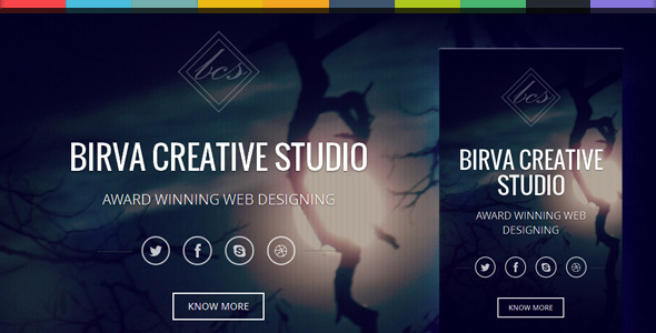 Birva -  Bootstrap Parallax One Page Template