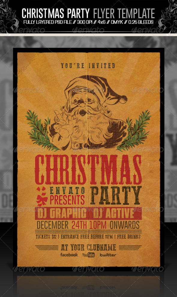 GraphicRiver Christmas Party Flyer Invitation 6361185
