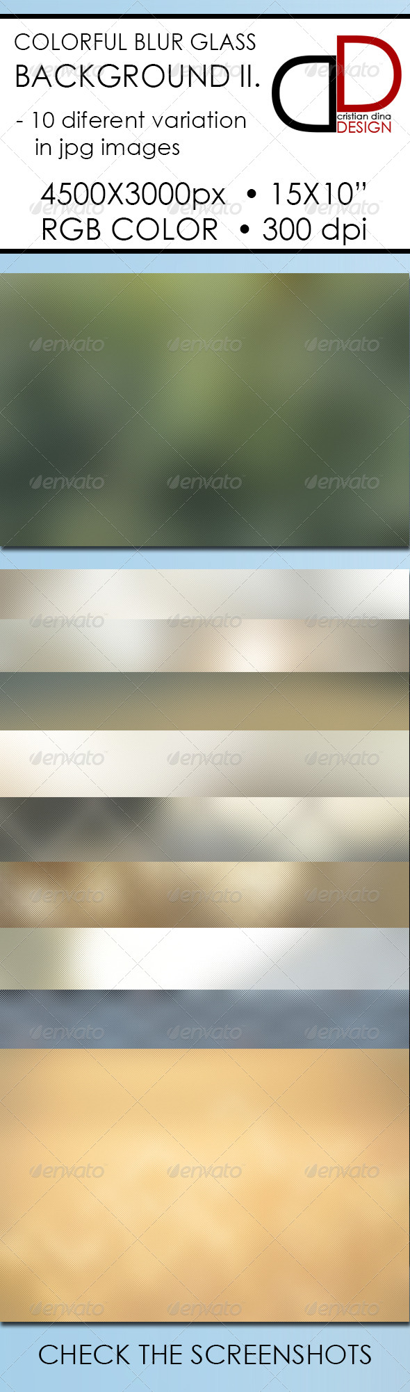 GraphicRiver Colorful Blur Glass Background II 6361243