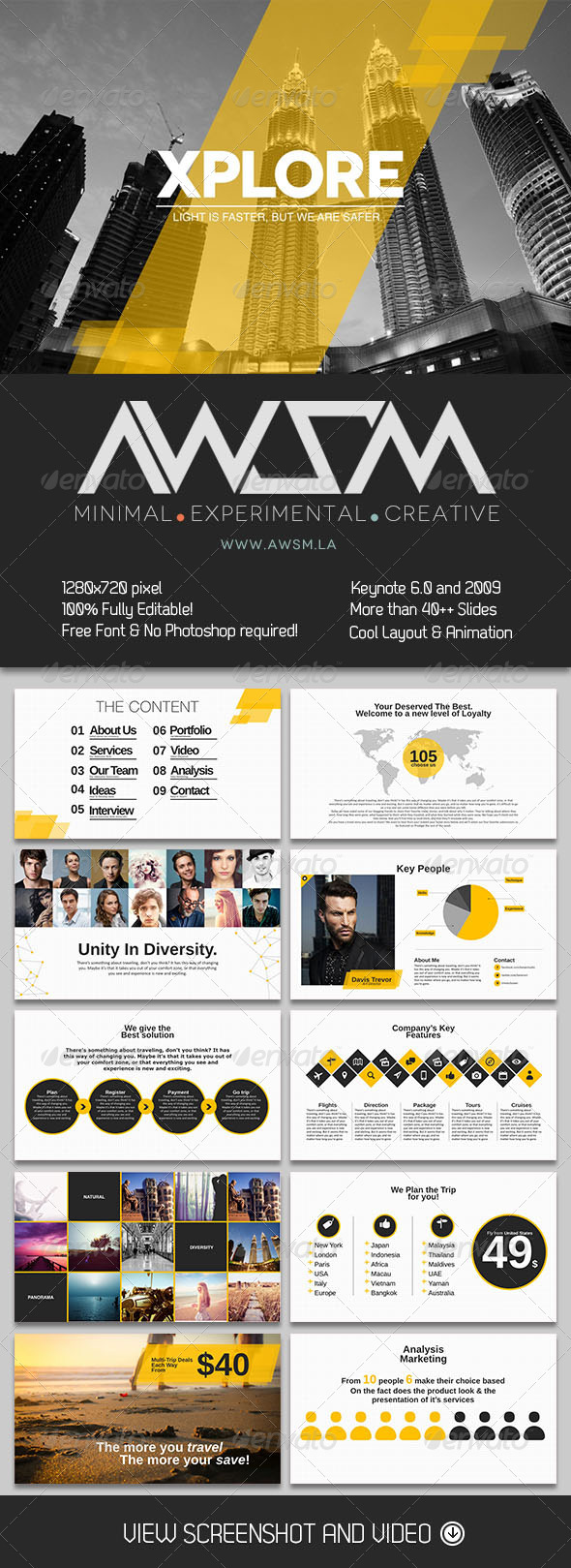GraphicRiver Xplore Keynote Template 6361244