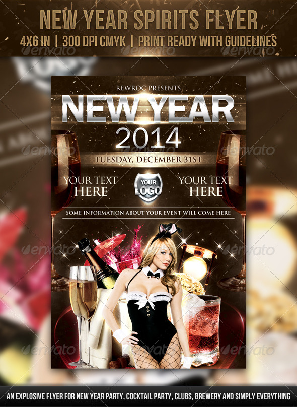 New Year Spirits Flyer - Holidays Events