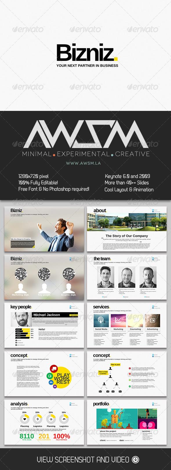 GraphicRiver Bizniz Keynote Template 6361466
