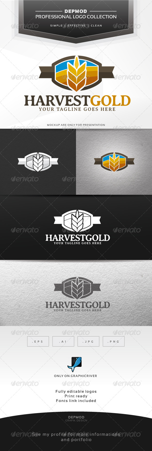 GraphicRiver Harvest Gold Logo 6361561