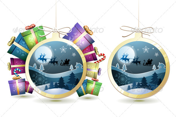 GraphicRiver Christmas with Gifts and Santa 6362130