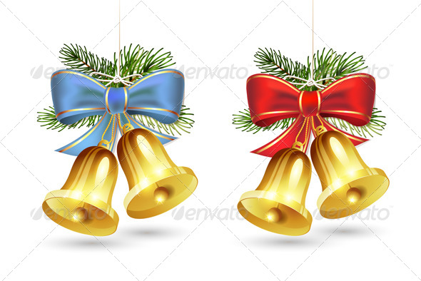 GraphicRiver Christmas Golden Bells 6362539