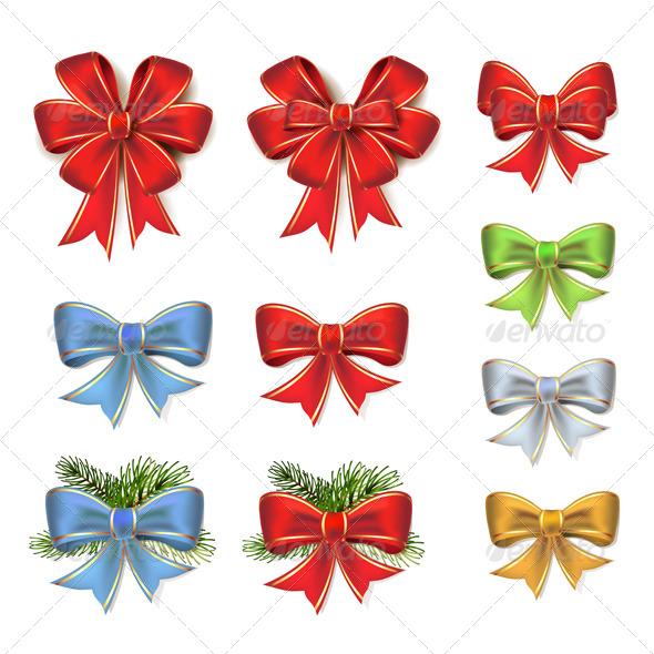GraphicRiver Christmas Bows 6362858