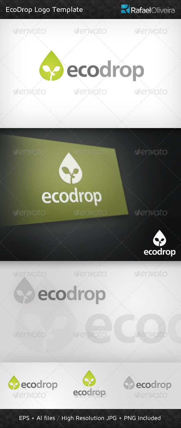 Ecodrop Logo Template - Nature Logo Templates