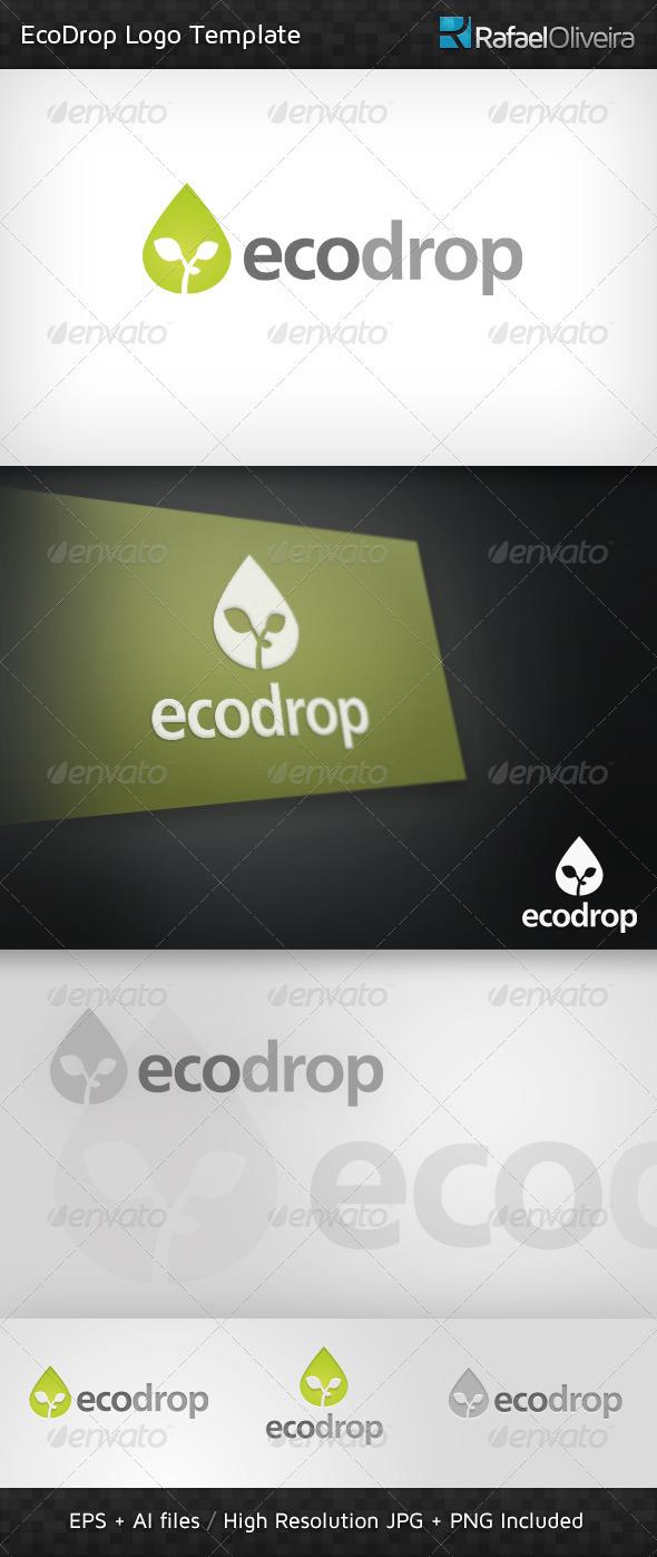 Ecodrop Logo Template - Nature Logo Templates