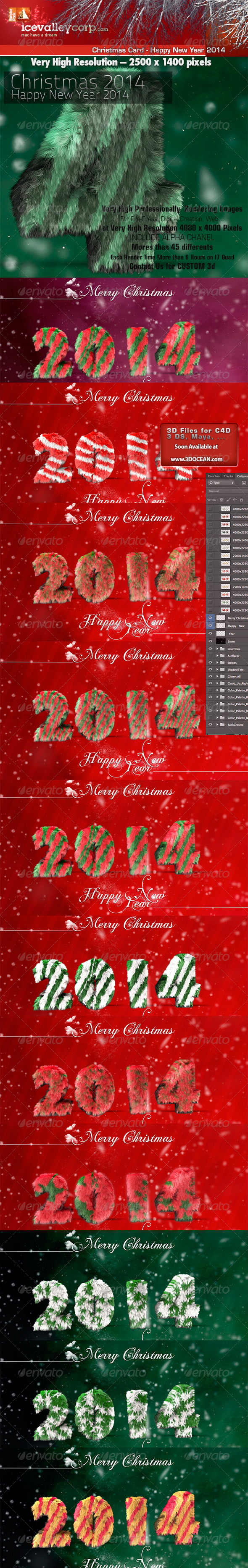 GraphicRiver Greetings Merry Christmas-Happy New Year 2014 6362977