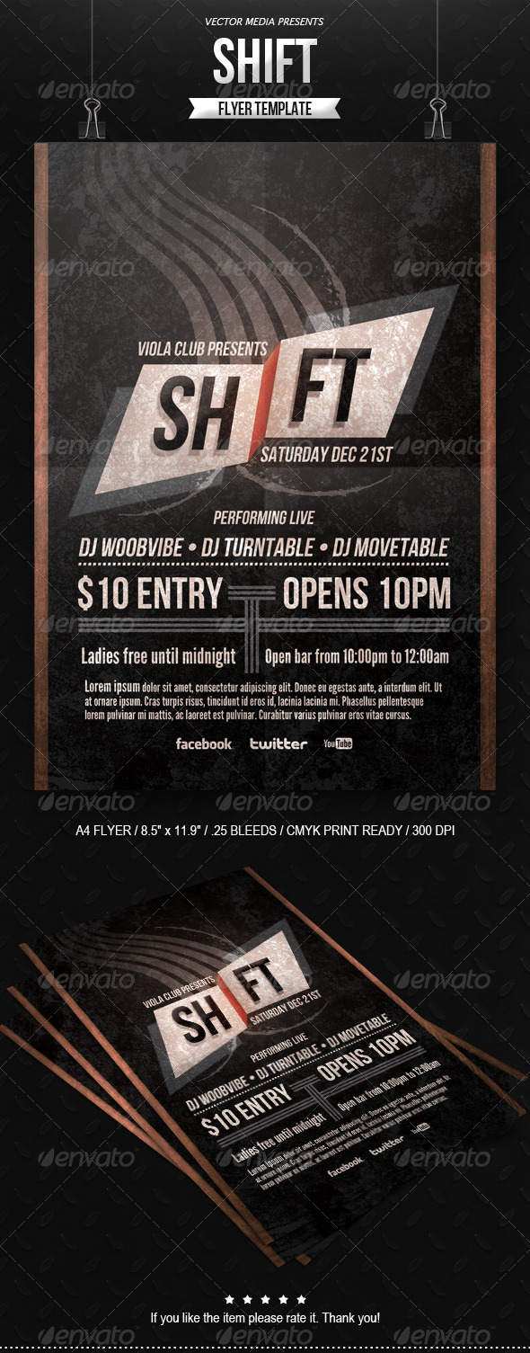 GraphicRiver Shift Flyer 6363048