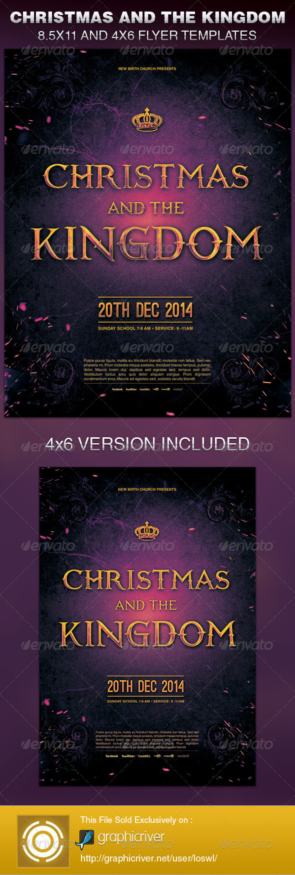 GraphicRiver Christmas and the Kingdom Church Flyer Template 6363061