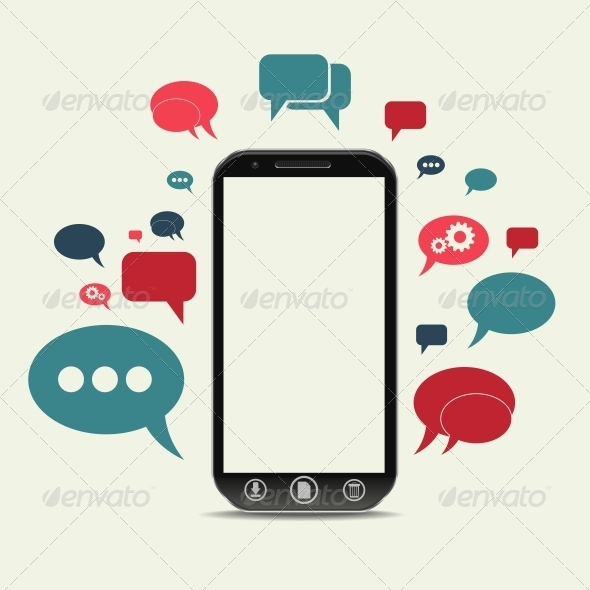 GraphicRiver Cellphone Chat Concept 6363107