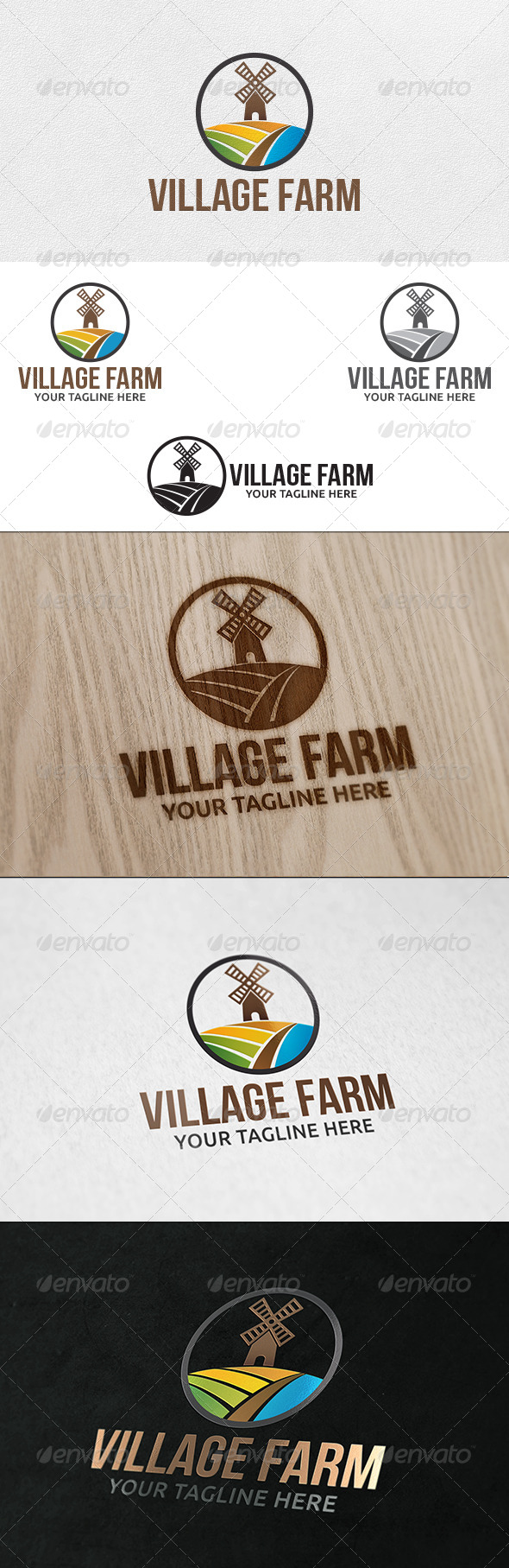 GraphicRiver Agro Farm Logo Template 6363271