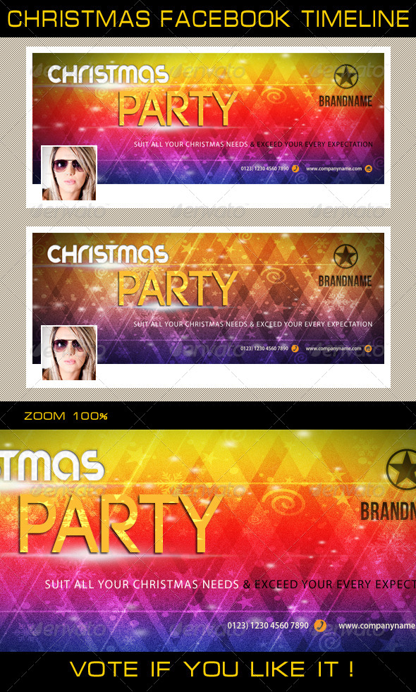 GraphicRiver Christmas Holidays Facebook Timeline 03 6363336