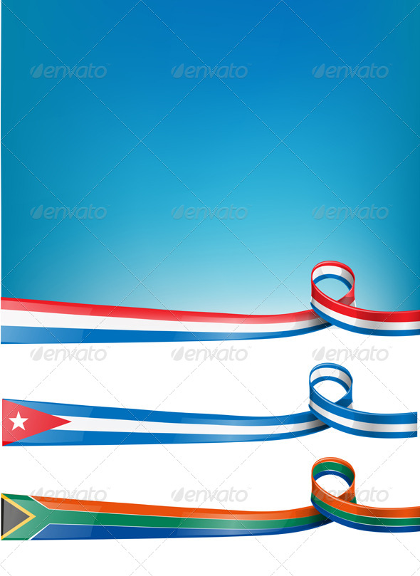 GraphicRiver Background Flag Set 6363478