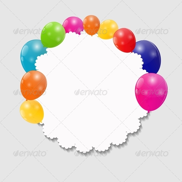 GraphicRiver Color Glossy Balloons Background 6363528