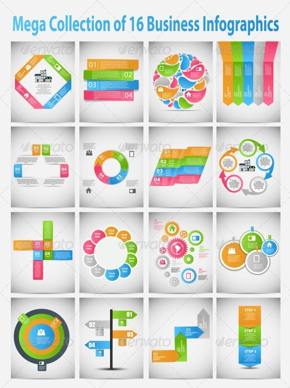 GraphicRiver Mega Collection of Business Template Infographics 6363561