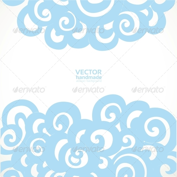 Background with Decorative Flourishes