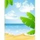 Download Vector Sunny Summer Sandy Beach