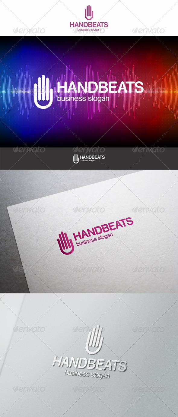 Hand Beats Logo - Symbols Logo Templates