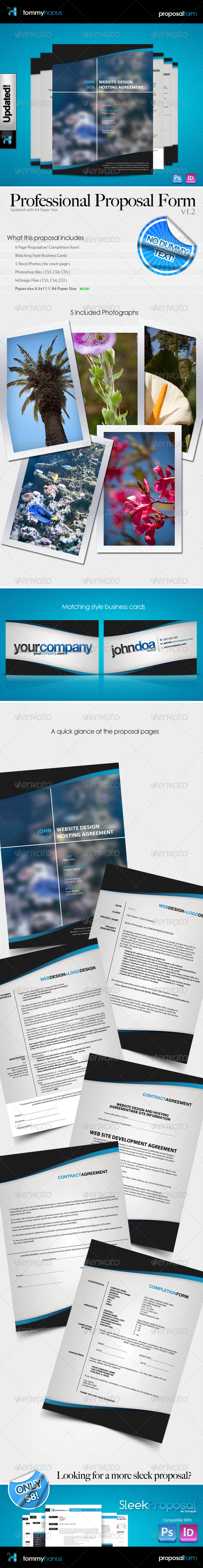 GraphicRiver Professional Proposal Pack & Business Cards 137381