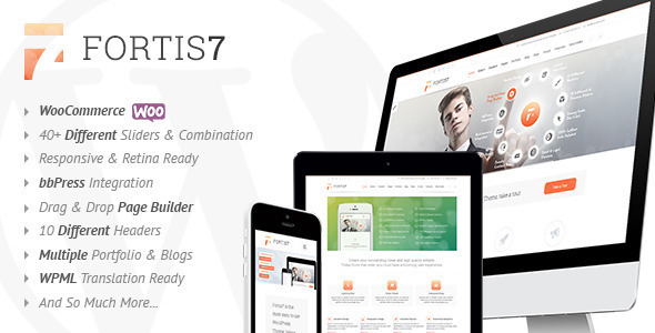 ThemeForest Fortis7 Responsive Multi-Purpose Theme 6347950