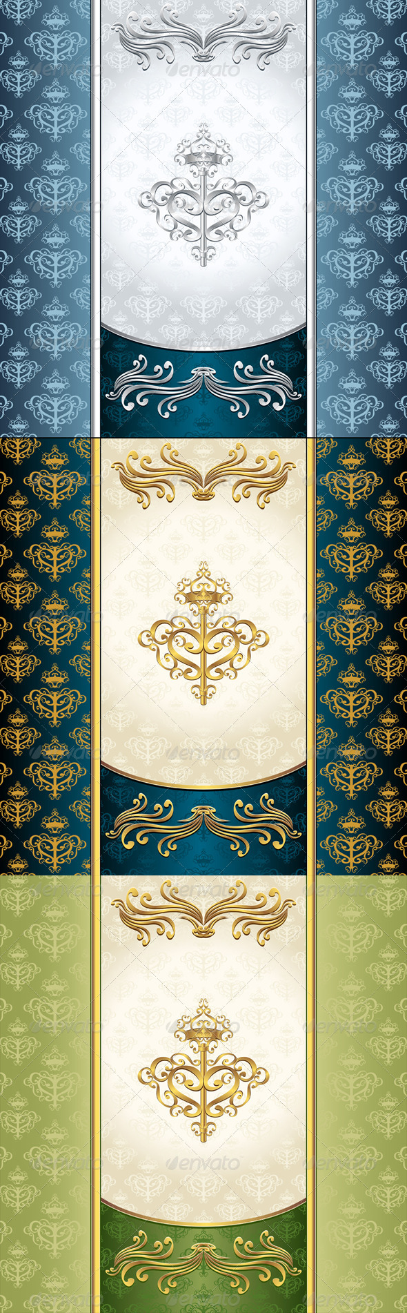 GraphicRiver Royal Victorian Background with Seamless Pattern 6363906