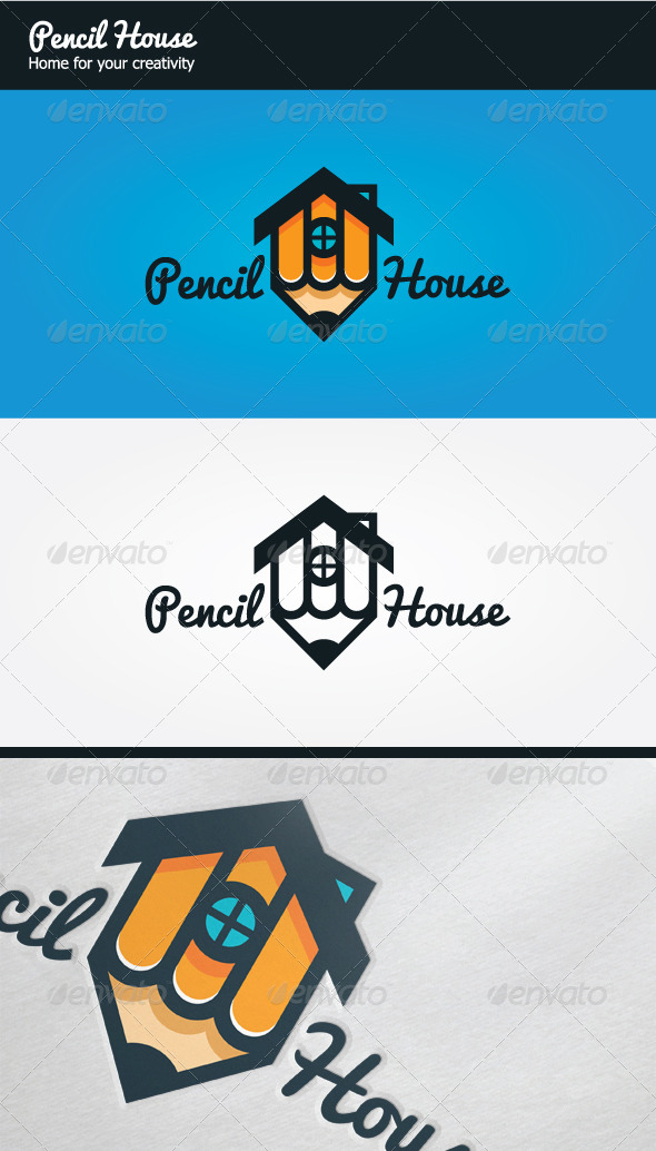 GraphicRiver Pencil House Logo 6358838