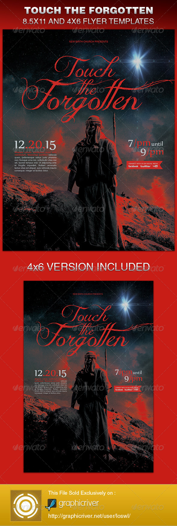 GraphicRiver Touch The Forgotten Church Flyer Template 6364344