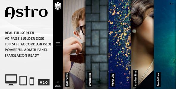ThemeForest Astro Showcase Photography Wordpress Theme 6364365