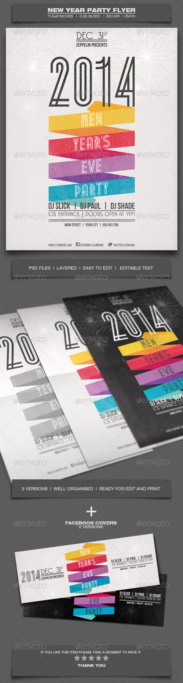GraphicRiver New Year Party Event Flyer Template 6364931