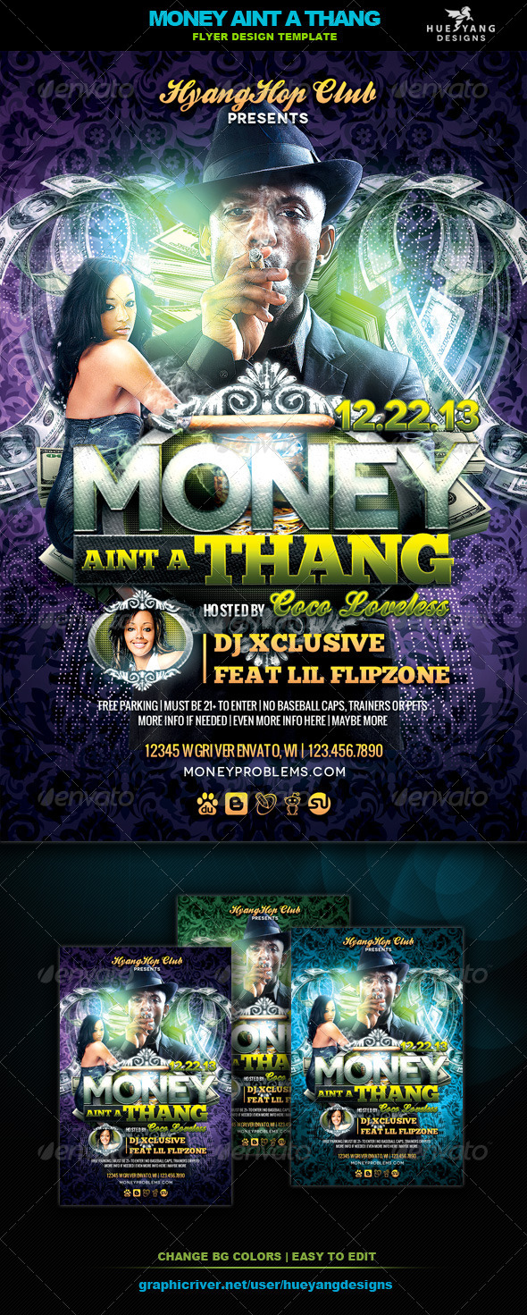 GraphicRiver Money Aint A Thang Flyer 6364933