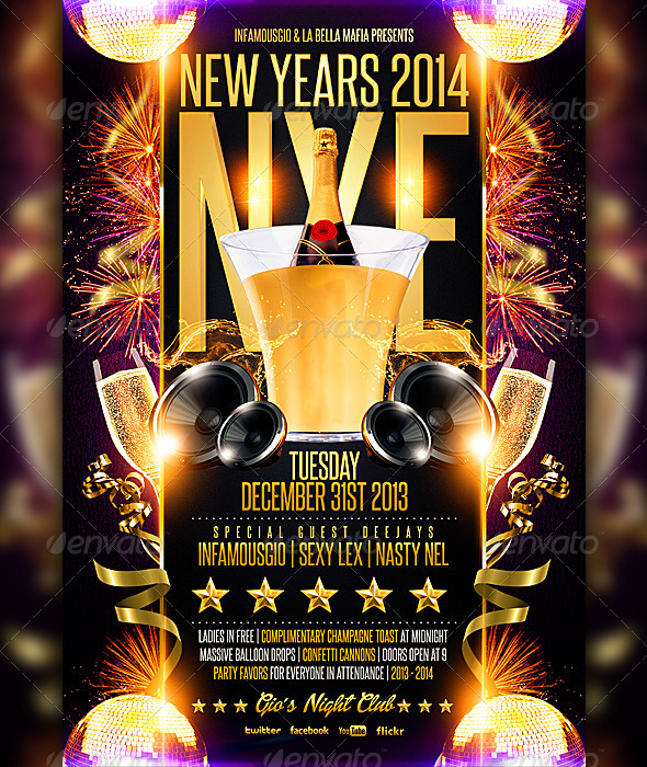 New Years 2014 NYE - Clubs & Parties Events