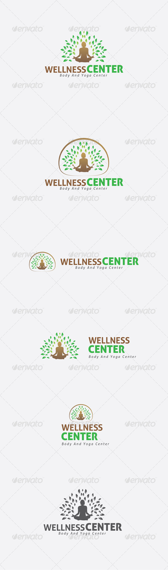GraphicRiver Yoga and Body Green Logo Template 6365077