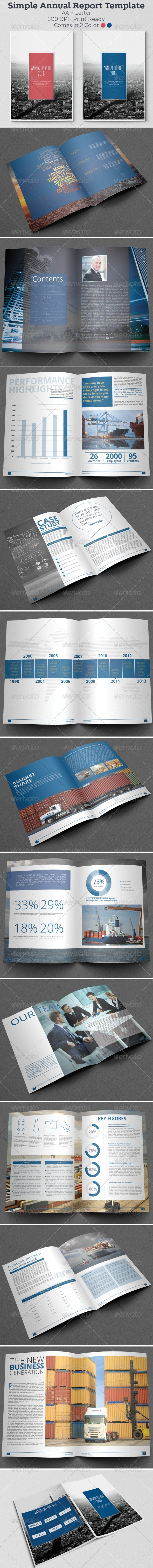 GraphicRiver Simple Annual Report Template 6365129