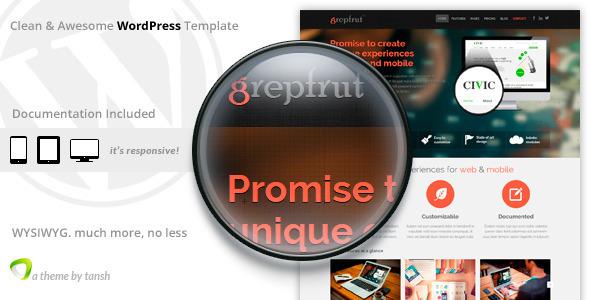 ThemeForest Grepfrut Software Wordpress Theme 6314881
