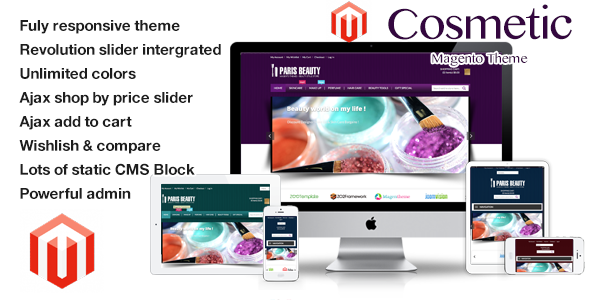 ThemeForest Cosmetic Responsive Magento Theme 6360636